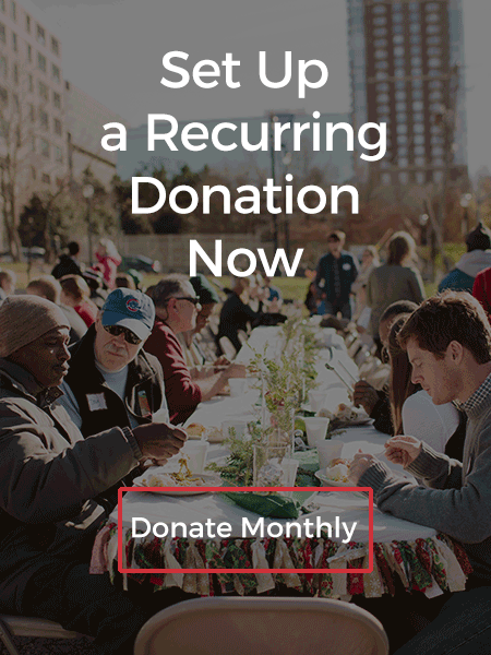 Set up a monthly, recurring donation.